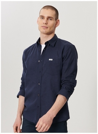 Wrangler Wrangler W211841410_Uzun Kollu Gömlek  Lacivert